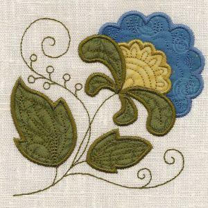 Applique Jacobean Elegance