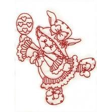 Redwork Easter Bunny