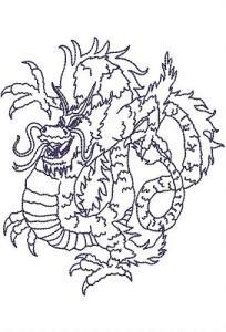 Bluework Chinese Dragons