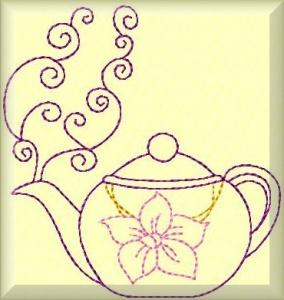 Color Work Teapots