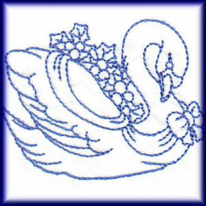 Christmas Swans