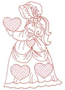 Lacy Heart Sunbonnets