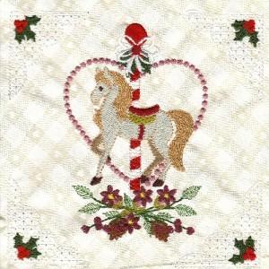 Christmas Carousel Horses, Etc.