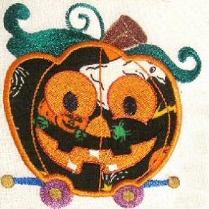 Applique Halloween Train