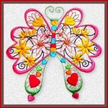 Mylar Butterfly Jewels