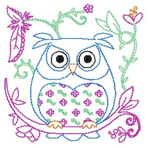 OWLS AND FLOWER BLOCKS