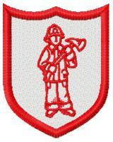 Free Standing Fire Fighter Badges