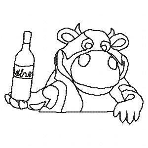 A Little Wine A Little Cheese BW