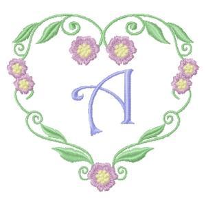 Floral Heart Monogram-3