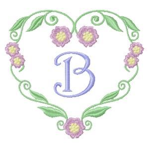 Floral Heart Monogram-4
