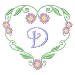 Floral Heart Monogram-6