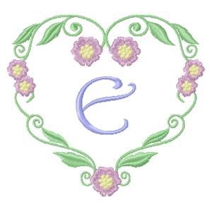 Floral Heart Monogram-7