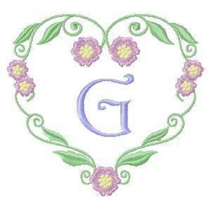 Floral Heart Monogram-9