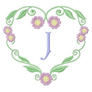 Floral Heart Monogram-12