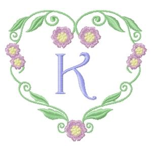 Floral Heart Monogram-13