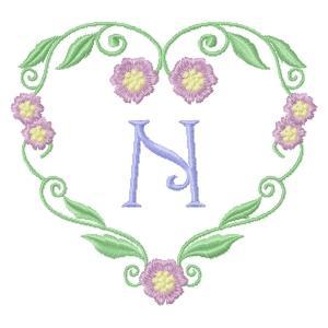 Floral Heart Monogram-16