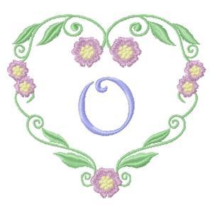 Floral Heart Monogram-17