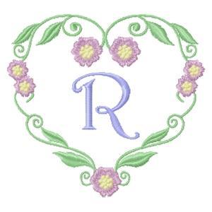 Floral Heart Monogram-20