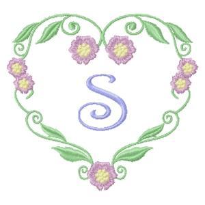 Floral Heart Monogram-21