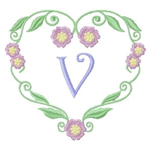 Floral Heart Monogram-24