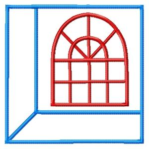 Attic Windows Applique Quilt Blocks 3 Sizes-16