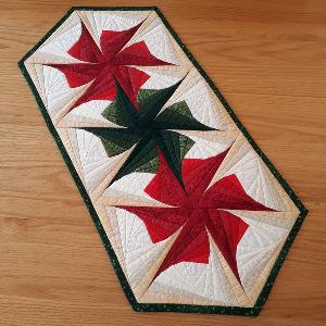 Christmas Star Quilted Table Runner