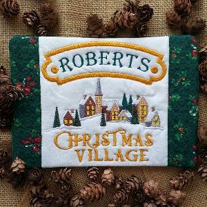 ITH Christmas Village Mug Rug