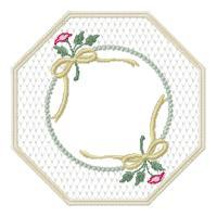 Ribbons and Roses Doily5x7