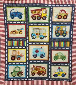 Busy Boys Car Junction  Applique