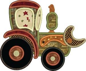 Busy Boys Car Junction  Applique