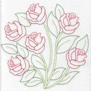Redwork Florals Set 1 Large