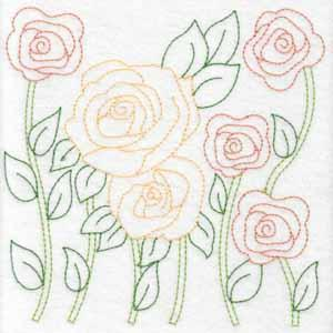 Redwork Florals Set 2 Large