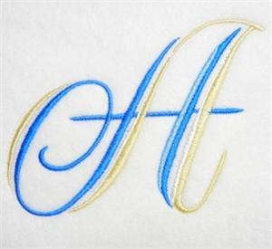 Blue and Gold Alphabet -3