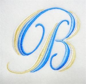 Blue and Gold Alphabet -4