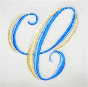 Blue and Gold Alphabet -5