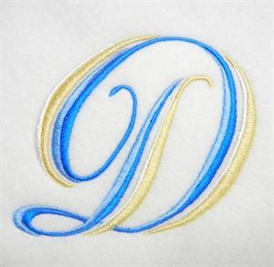 Blue and Gold Alphabet -6