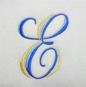 Blue and Gold Alphabet -7