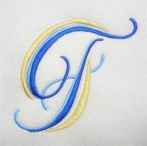 Blue and Gold Alphabet -8