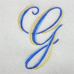 Blue and Gold Alphabet -9