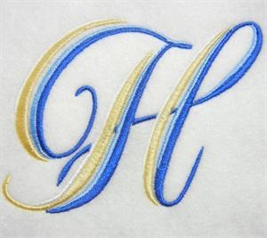 Blue and Gold Alphabet -10