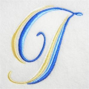 Blue and Gold Alphabet -11