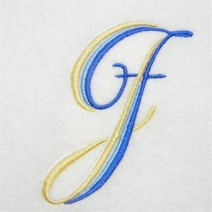 Blue and Gold Alphabet -12