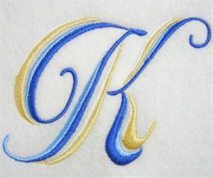 Blue and Gold Alphabet -13