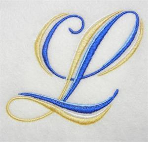 Blue and Gold Alphabet -14