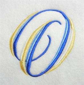Blue and Gold Alphabet -17