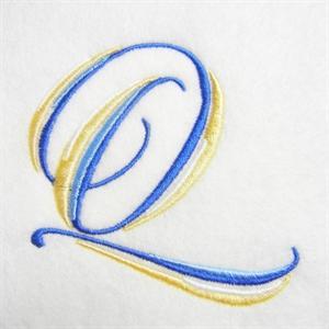 Blue and Gold Alphabet -19