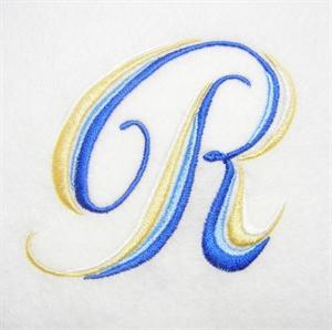 Blue and Gold Alphabet -20