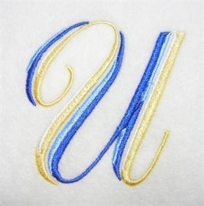 Blue and Gold Alphabet -23