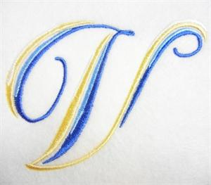 Blue and Gold Alphabet -24