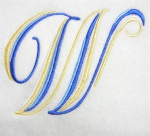 Blue and Gold Alphabet -25
